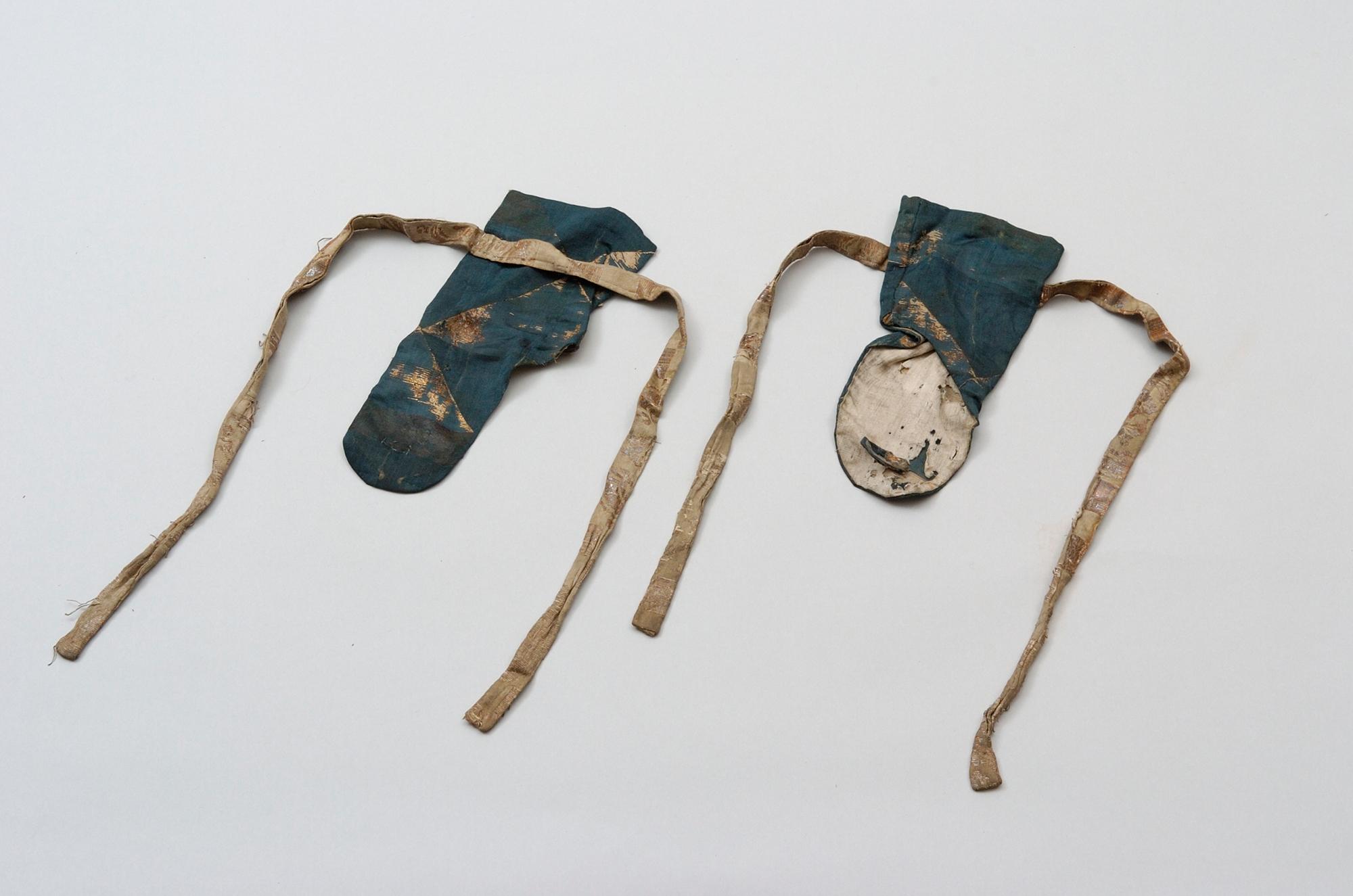 納戸地鱗文金襴手甲
